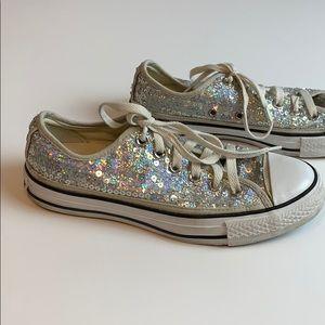 Rare Converse All Star Silver Sequin Sneakers